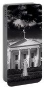 White House Sunrise B W Portable Battery Charger