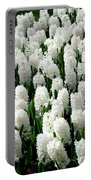 White Hyacinths Portable Battery Charger
