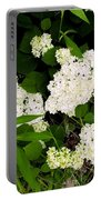 White Hydrangia Beauty Portable Battery Charger