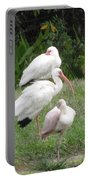 White Ibis Bliss Portable Battery Charger