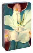 White Iris Portable Battery Charger