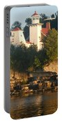 White Lighthouse Portable Battery Charger