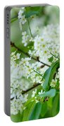 White Lilac Portable Battery Charger