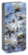 White Magnolia Magnificence Portable Battery Charger