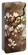 White Magnolias Portable Battery Charger