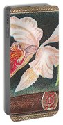 White Orchid Cigar Label Portable Battery Charger