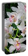 White Orchid In Full Bloom Portable Battery Charger