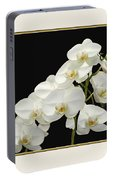 White Orchids II Portable Battery Charger