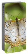White Peacock Portable Battery Charger