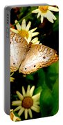 White Peacock Butterfly I I I Portable Battery Charger
