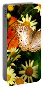 White Peacock Butterfly I V Portable Battery Charger