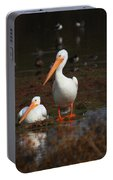 White Pelican Visitors To Gilbert Arizona Portable Battery Charger