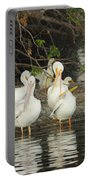 White Pelicans Grooming Portable Battery Charger