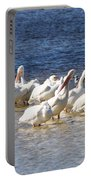 White Pelicans On Sanibel Island Portable Battery Charger