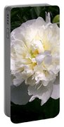 White Peony Watercolor Effect Portable Battery Charger