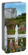 White Picket Fence In Mendocino Portable Battery Charger