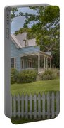 White Pickett Fence Portable Battery Charger