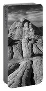 White Pocket Brain Rock Portable Battery Charger by Jerry Fornarotto