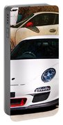 White Porsche Gt3rs Portable Battery Charger