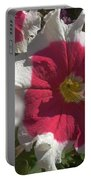 White-red Petunia Portable Battery Charger