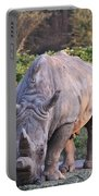 White Rhinoceros  Portable Battery Charger