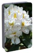 White Rhododendron Portable Battery Charger