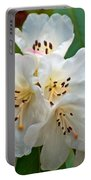 White Rhododendrons Portable Battery Charger