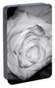 White Rose Passion Impression Portable Battery Charger