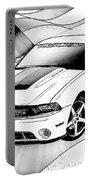 White Roush Mustang Portable Battery Charger