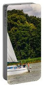 White Sailboat Portable Battery Charger
