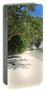 White Sand And Blue Sky Portable Battery Charger