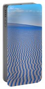 White Sand Patterns New Mexico Portable Battery Charger by Bob Christopher