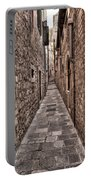 White Streets Of Dubrovnik No3 Portable Battery Charger