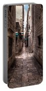 White Streets Of Dubrovnik No5 Portable Battery Charger