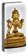 White Tara Portable Battery Charger