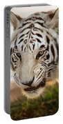 White Tiger At Sunrise Portable Battery Charger