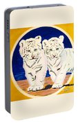 White Tiger Twins Portable Battery Charger