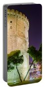 White Tower In Salonica Greece Portable Battery Charger