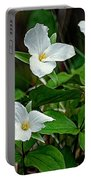 White Trilliums Portable Battery Charger