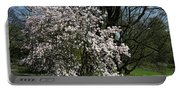 White Tulip Tree Portable Battery Charger