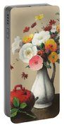 White Vase And Red Box Portable Battery Charger