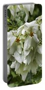 White Veil Of Tropical Flowers Portable Battery Charger