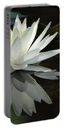 White Water Lily Reflections Portable Battery Charger