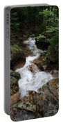 White Waters Over Granite Bolder Portable Battery Charger