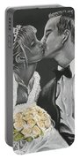 White Wedding Portable Battery Charger