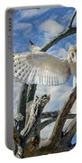 White Wide Wings Portable Battery Charger