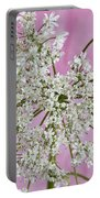 White Wild Cow Parsnip Flower Portable Battery Charger