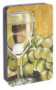 White Wine And Cheese Portable Battery Charger
