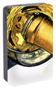White Wine Art - Lap Of Luxury - By Sharon Cummings Portable Battery Charger