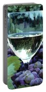 White Wine Reflections Portable Battery Charger